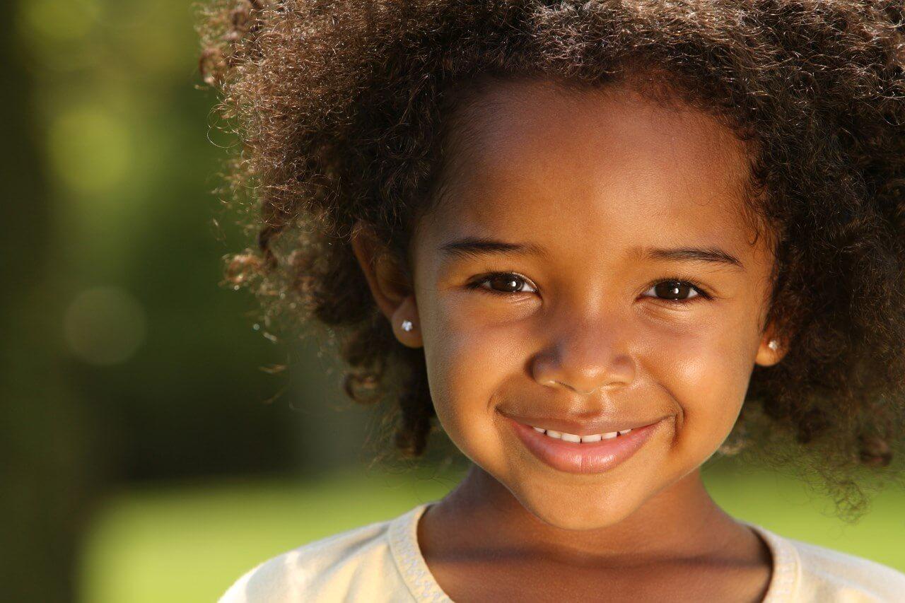 малышка афроамериканка