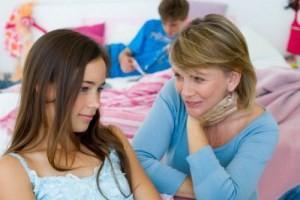 дочка делиться секретами