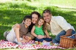 Выезд на пикник с семьей