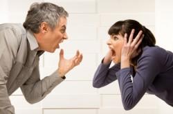 Частые ссоры в семье - одна из причин гнева