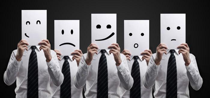 Разные эмоции у мужчин