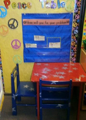 Столик переговоров в детском саду